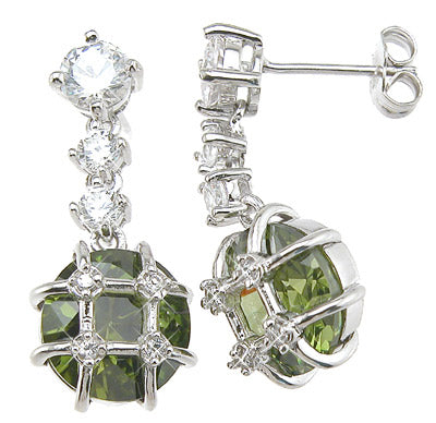 925 sterling silver rhodium finish brilliant antique style prong earrings