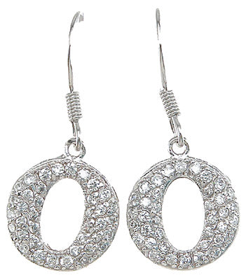925 sterling silver rhodium finish cz pave earrings