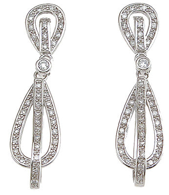 925 sterling silver antique style earrings 0 5 ct