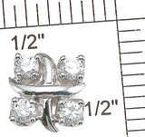925 sterling silver rhodium finish cz tiffany style earrings