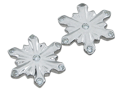 925 sterling silver snowflake fashion earrings