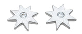 925 sterling silver star fashion earrings