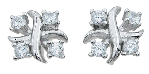 925 sterling silver stud xo earrings 0 75 ct