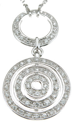 925 sterling silver rhodium finish cz designer inspired necklace 1 ct