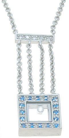 925 sterling silver rhodium finish cz brilliant fashion necklace 1 2 ct