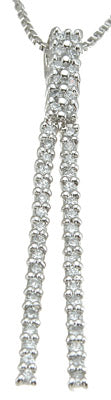 925 sterling silver rhodium finish cz fashion necklace 1 2 ct