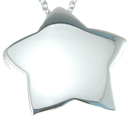 925 sterling silver rhodium finish star fashion necklace ct