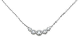 925 sterling silver fashion necklace 0 5 ct bezel