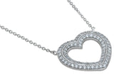 925 sterling silver heart necklace 2 ct