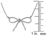 925 sterling silver bow tie necklace