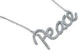 925 sterling silver peace necklace 1 ct