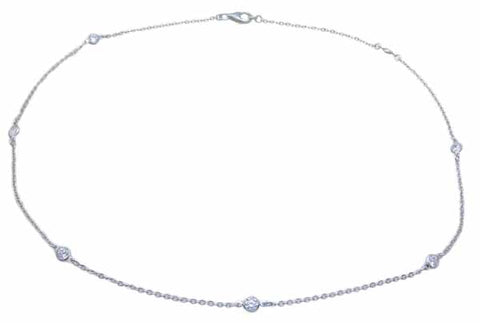 925 sterling silver necklace 0 8 ct