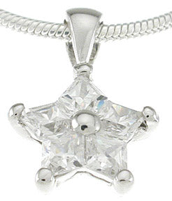 925 sterling silver platinum finish pendant