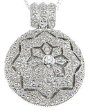 925 sterling silver rhodium finish locket antique style pave pendant