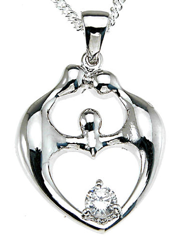 925 sterling silver rhodium finish fashion prong pendant
