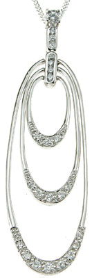 925 sterling silver rhodium finish cz brilliant designer inspired pendant