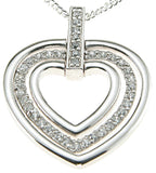 925 sterling silver rhodium finish cz brilliant heart pendant 1 4 ct