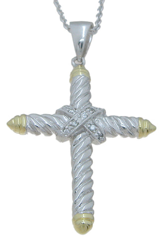 925 sterling silver rhodium finish cross pendant