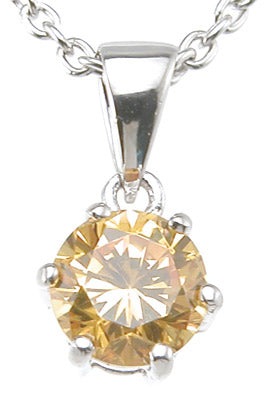 925 sterling silver rhodium finish fashion prong pendant 1 ct