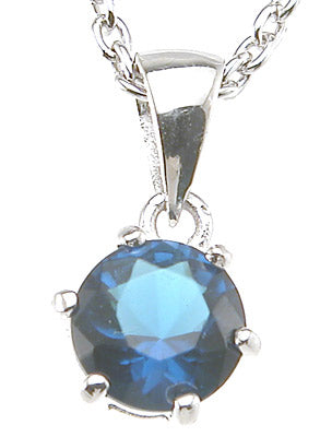 925 sterling silver brilliant fashion pendant 1 ct