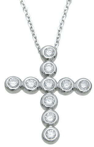 925 sterling silver fashion cross pendant 1 25 ct