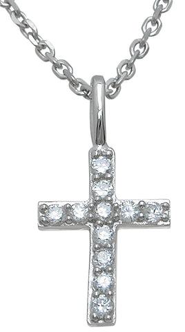 925 sterling silver fashion cross pendant 0 5 ct