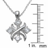 925 sterling silver fashion xo hugs kisses pendant 0 5 ct