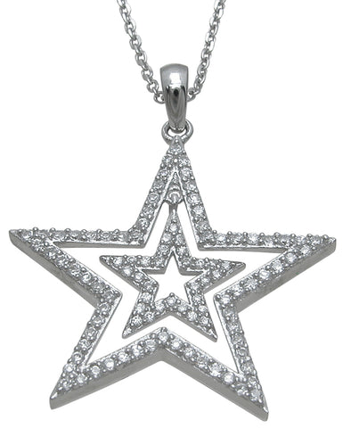925 sterling silver fashion pendant 1 4 ct