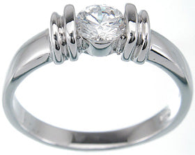 925 sterling silver platinum finish brilliant fashion ring alique 0 25 ct
