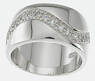 925 sterling silver platinum finish fashion pave band bertini