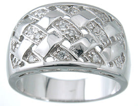 925 sterling silver platinum finish fashion pave band berkovich