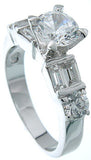 925 sterling silver platinum finish brilliant solitaire engagement ring giovani