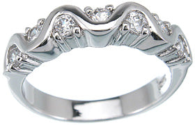 925 sterling silver platinum finish fashion ring bertini