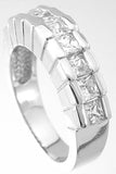 925 sterling silver platinum finish princess fashion ring berkovich