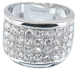 925 sterling silver platinum finish fashion pave band giovani 1 5 ct