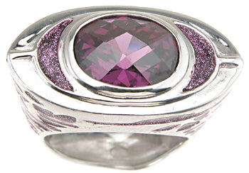 925 sterling silver rhodium finish enamel fashion anniversary ring fashion 2 ct