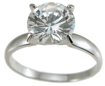 925 sterling silver cz brilliant solitaire wedding ring 2 ct