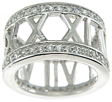 925 sterling silver rhodium finish cz brilliant tiffany style band tiffany style 3 4 ct