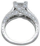 925 sterling silver rhodium finish cz princess antique style wedding ring antique style pave