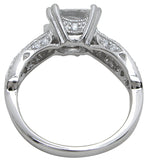 925 sterling silver rhodium finish cz princess antique style wedding ring antique style 1 1 2 ct