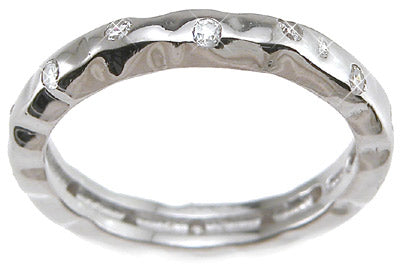 925 sterling silver rhodium finish cz brilliant fashion wedding band
