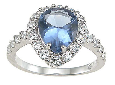 925 sterling silver rhodium finish cz prong anniversary ring