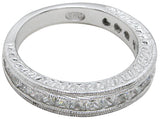 925 sterling silver wedding band antique style 1 4 ct
