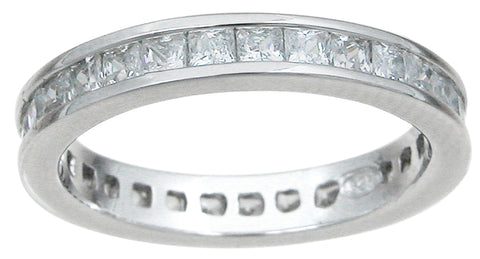 925 sterling silver eternity ring wedding 0 75 ct