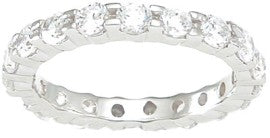 925 sterling silver eternity ring prong 1 ct