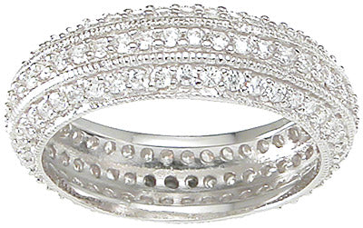925 sterling silver eternity ring antique style 1 ct