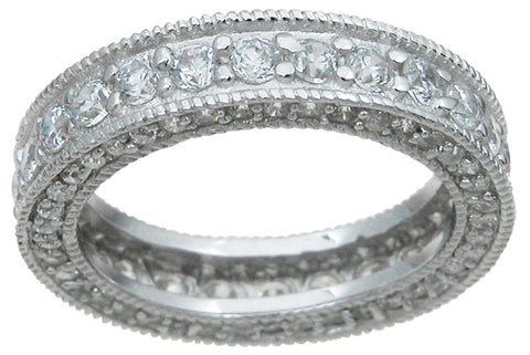 925 sterling silver eternity ring antique style 1 1 2 ct