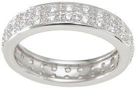 925 sterling silver eternity ring brilliant 1 ct