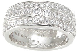 925 sterling silver wedding band fashion 1 ct