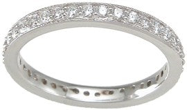 925 sterling silver wedding band stackable ring 1 2 ct